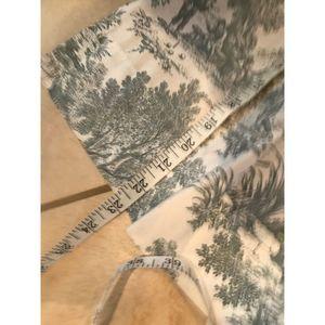 vintage Accents - FOUR Toile Curtains Blue White